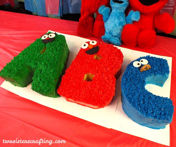 Sensational Abc Sesame Street Cakes Two Sisters Funny Birthday Cards Online Hetedamsfinfo