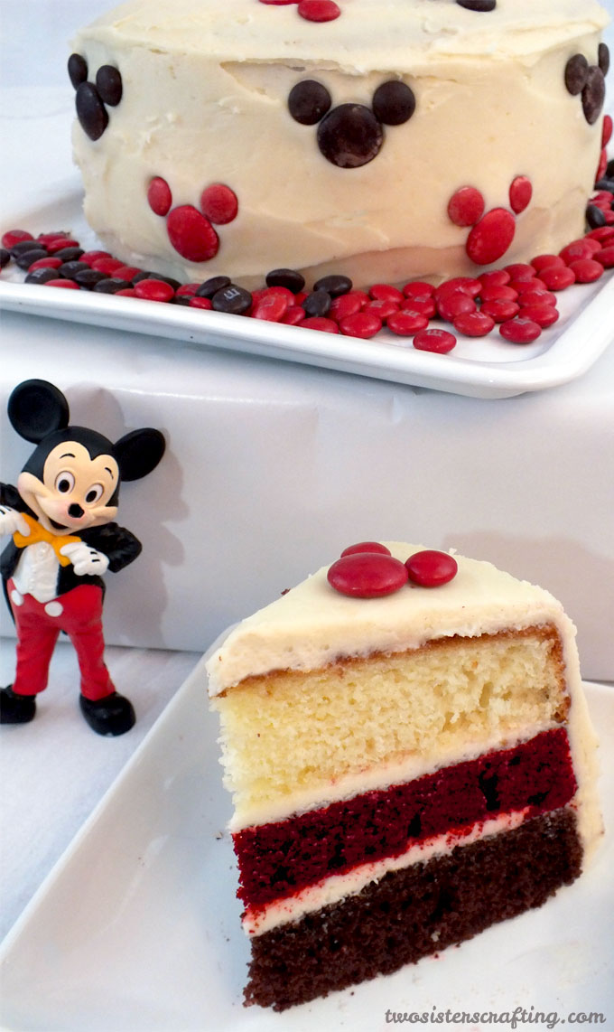 Fine Mickey Mouse Cake Two Sisters Personalised Birthday Cards Vishlily Jamesorg