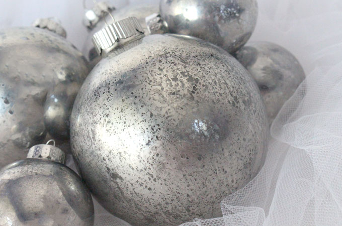Mercury Glass Christmas Tree Ornaments Two Sisters