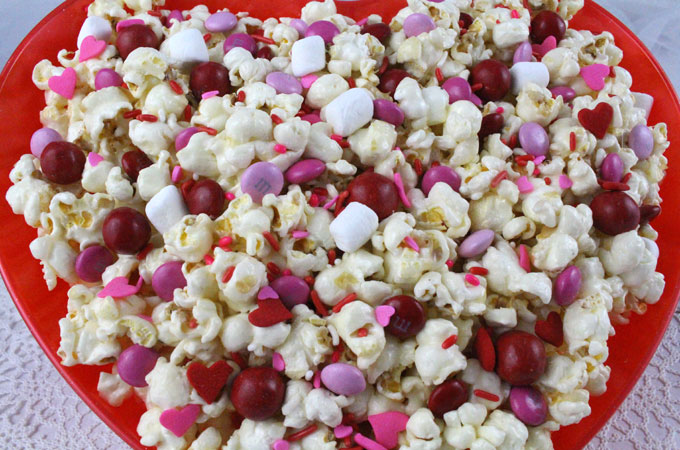 Valentines Day Popcorn Two Sisters