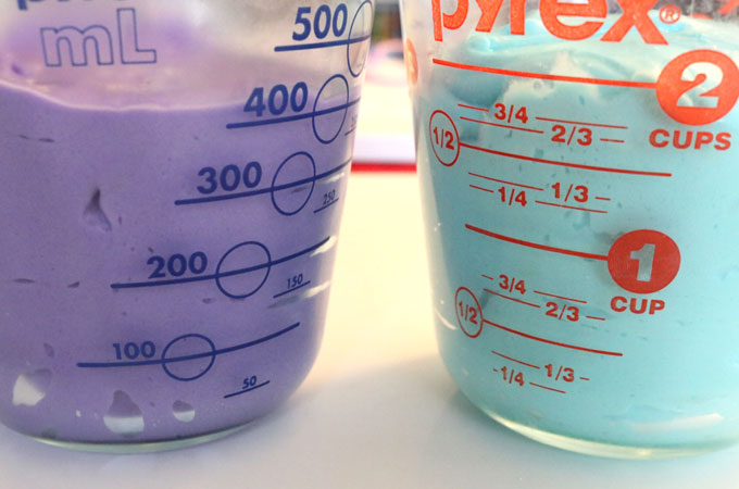 Purple and Blue Cake Batter