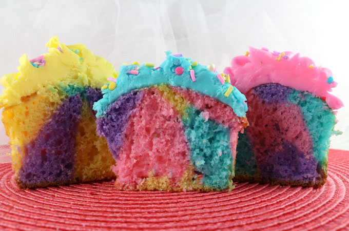 Inside of the Marble Cupcakes