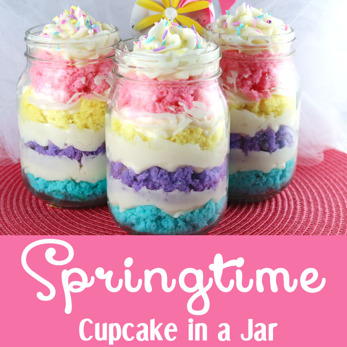 Springtime Cupcake In A Jar Two Sisters Crafting