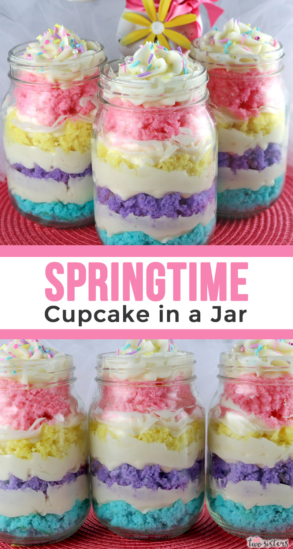 Springtime Cupcake In A Jar Two Sisters