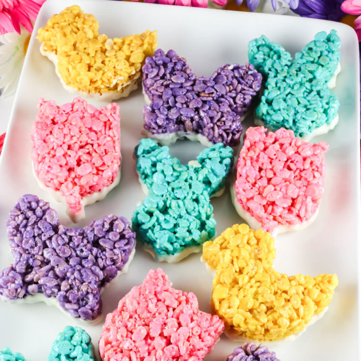 Rice Krispie Treats Dipped in White Chocolate
