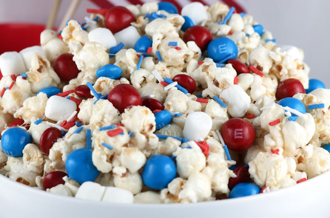 Patriotic Popcorn Two Sisters