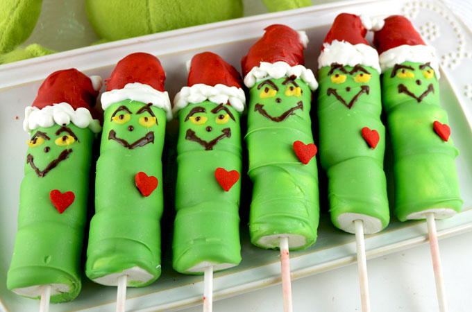 Grinch Marshmallow Pops Two Sisters