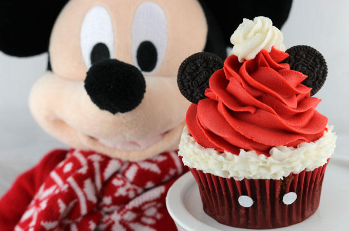 Mickey Mouse Santa Hat Cupcakes Two Sisters