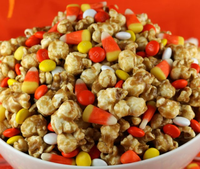 Candy Corn Caramel Popcorn A Fun Halloween Treat Sweet And Salty Popcorn Covered In