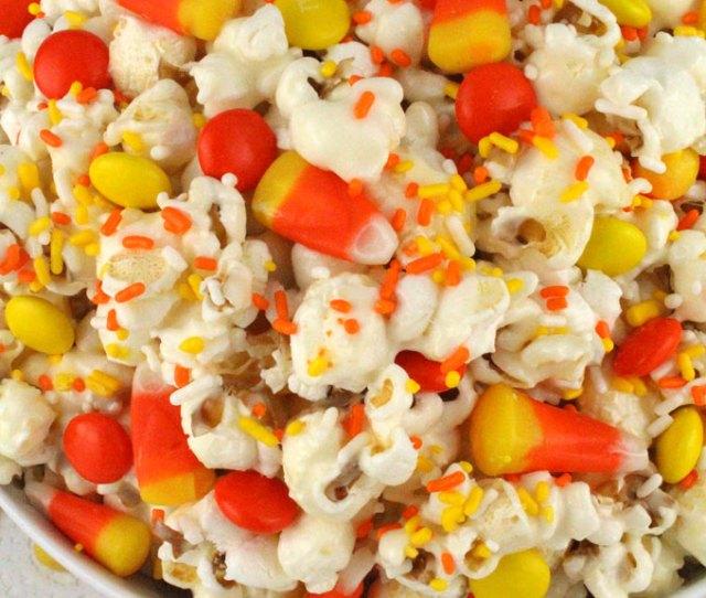 Fall Candy Corn Popcorn A Fun Halloween Treat Sweet Salty Crunchy And