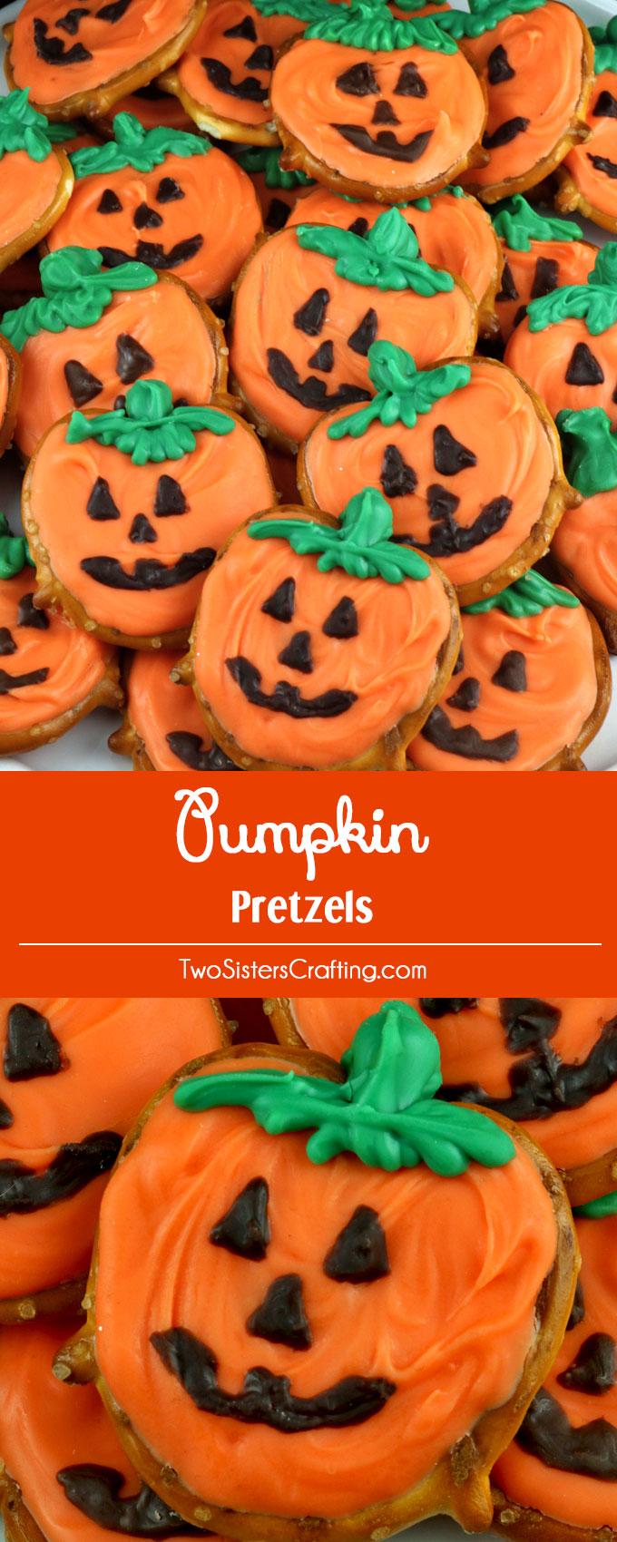 Pumpkin Pretzels Two Sisters