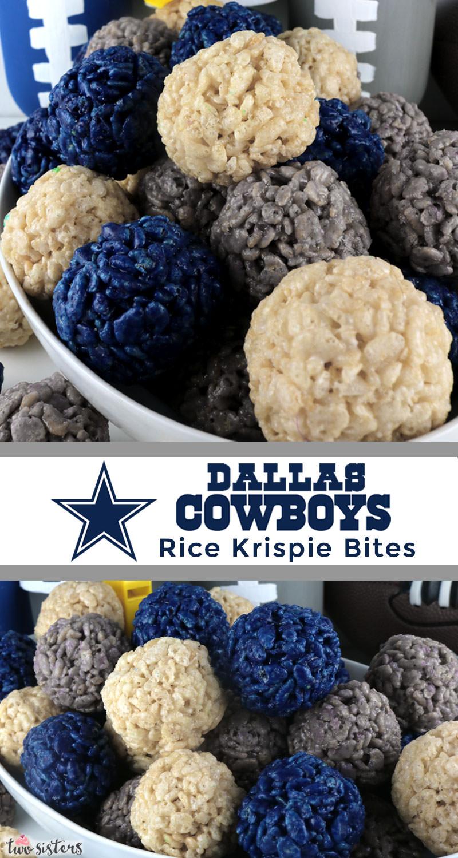 Dallas Cowboys Rice Krispie Bites - Two Sisters