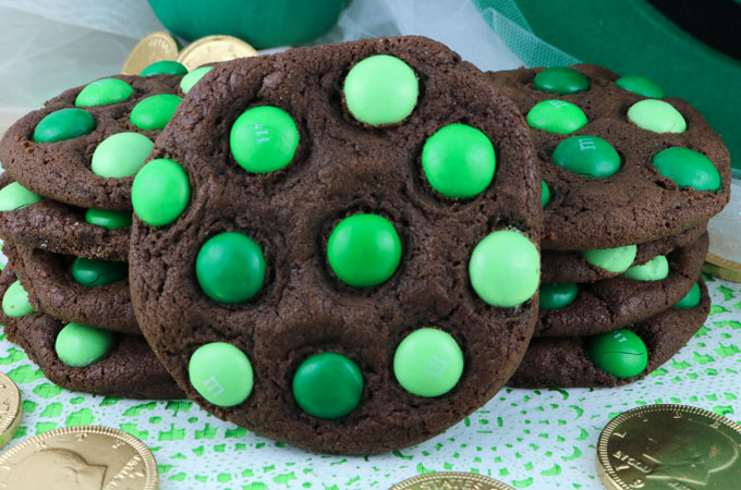 St Patrick S Day Mint M M Cookies Two Sisters