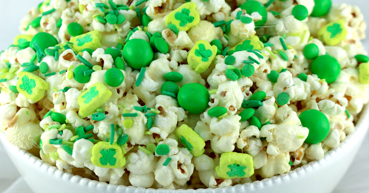 St. Patrick's Day Popcorn - Two Sisters