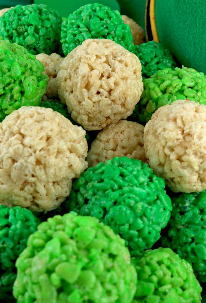 Image result for Saint Patrick's Day Rice Krispie Bites