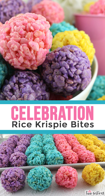 Celebration Rice Krispie Bites - Two Sisters