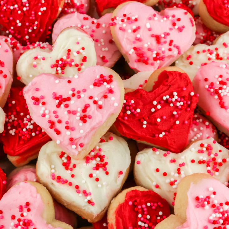 Valentine's Frosted Sugar Cookies