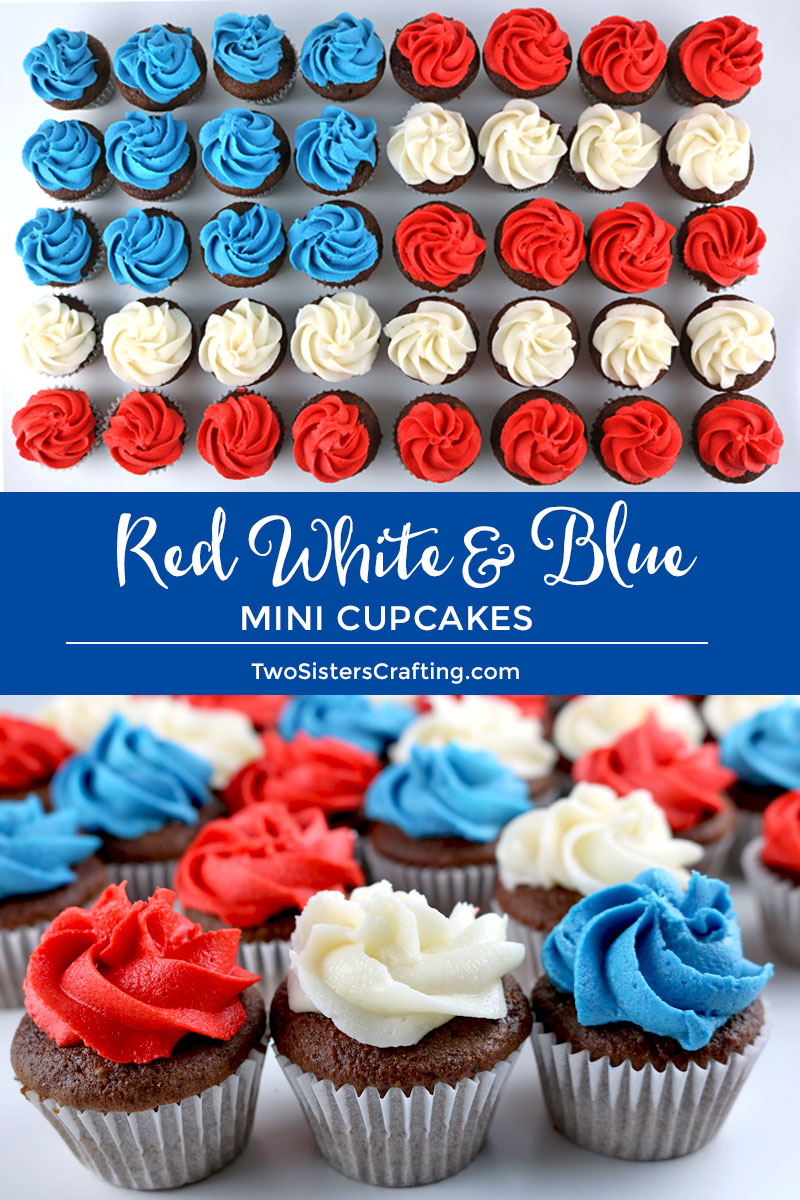 Red White And Blue Mini Cupcakes Two Sisters