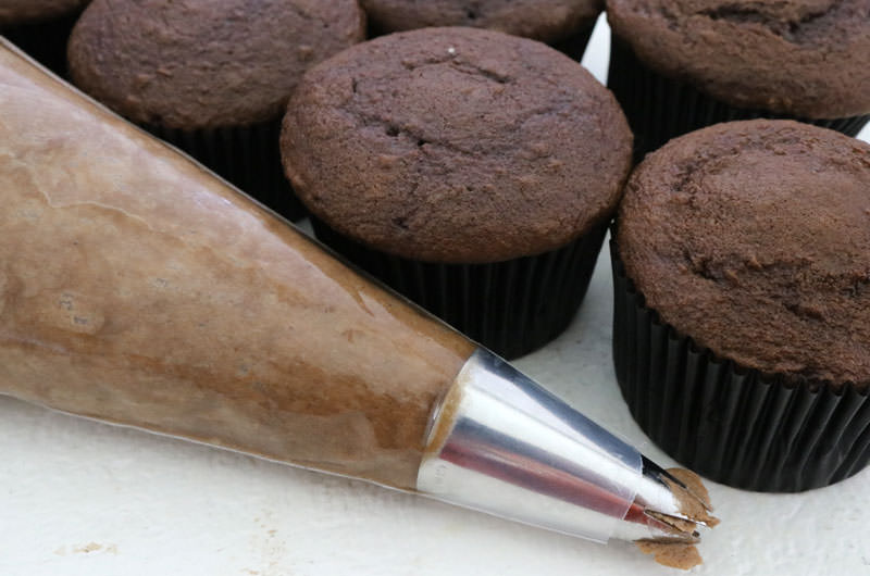 Mocha Cupcakes with Coffee Whipped Cream Frosting - Two ...