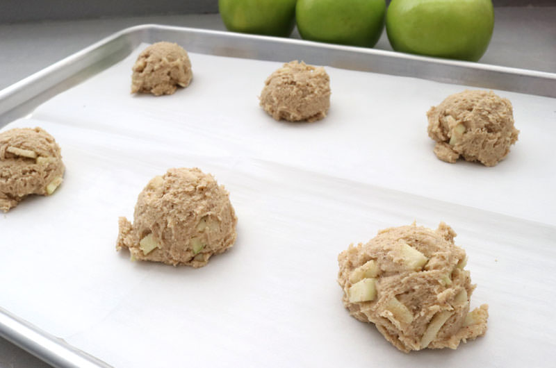 Drop dough onto a cookie sheet