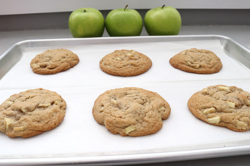 Apple Cookies out of the oven