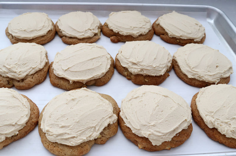 Frost Apple Cookies with Caramel Frosting