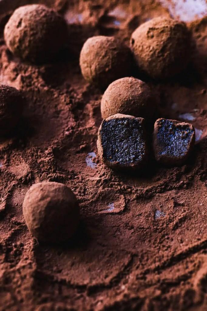 gluten free , chocolate , tahini healthy snack