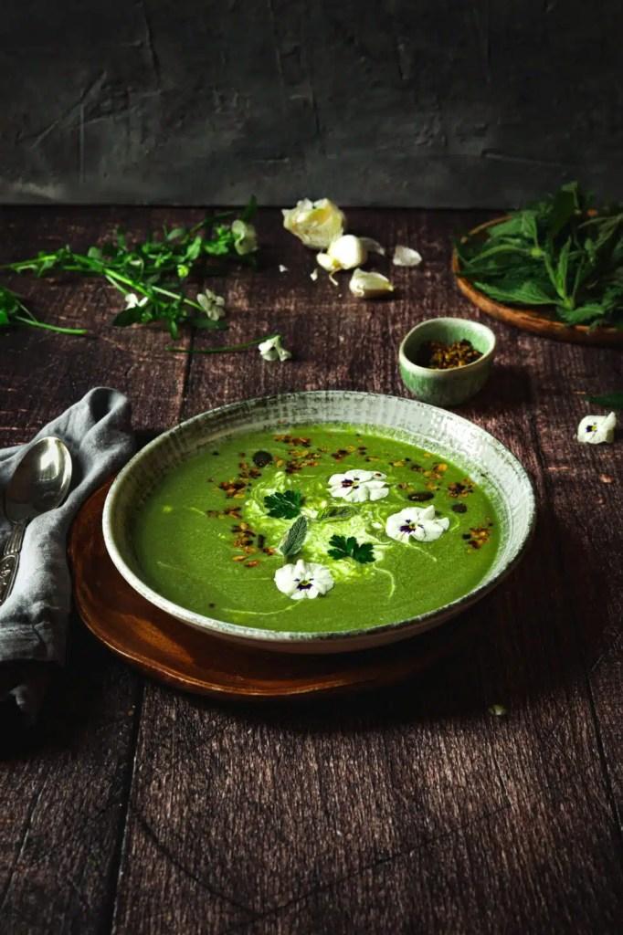 nettle benefits, healthy, wild nettle soup