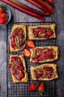 Strawberry-Rhubarb Pastry Tarts