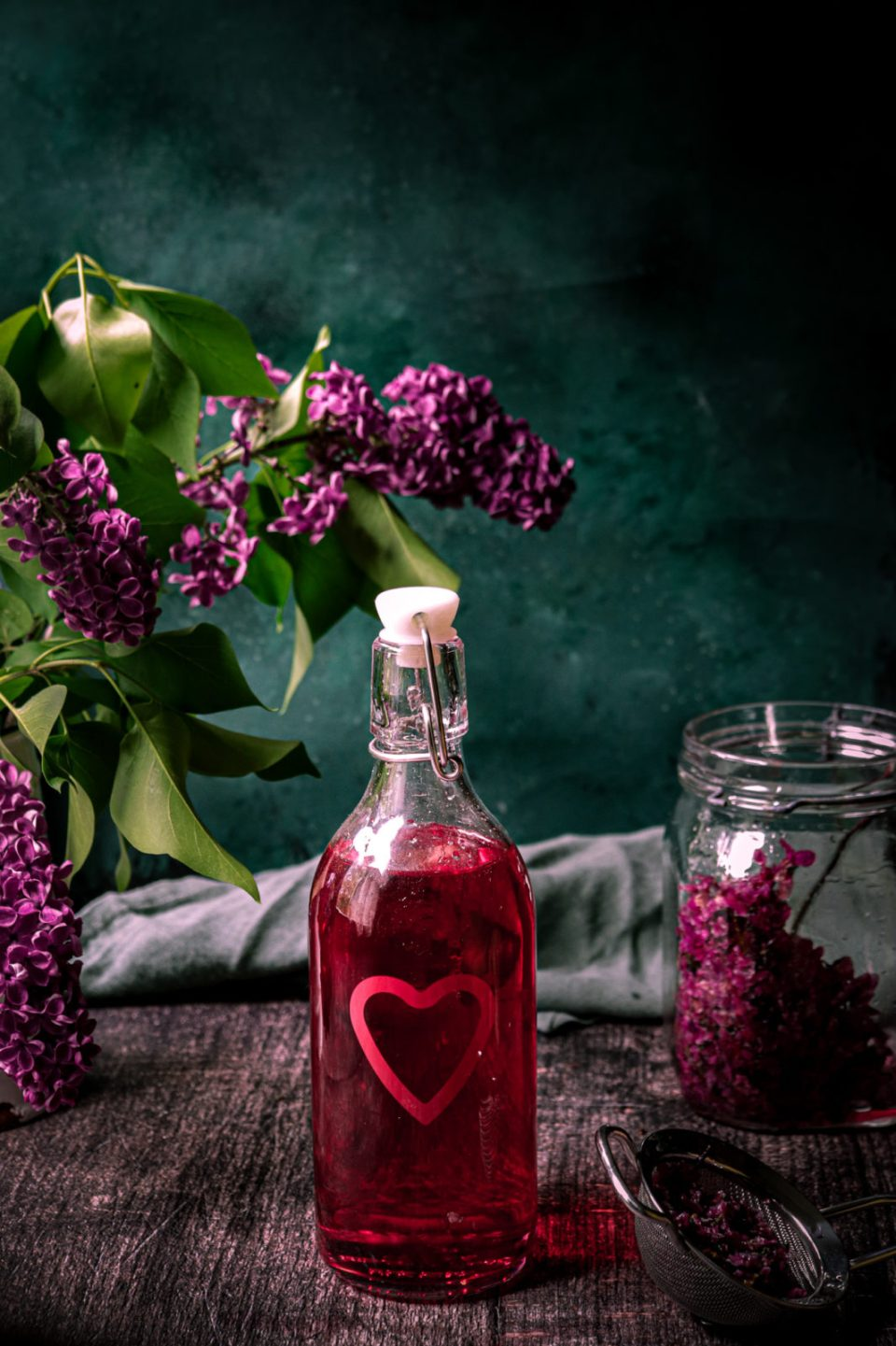 lilac syrup recipe, simple syrup