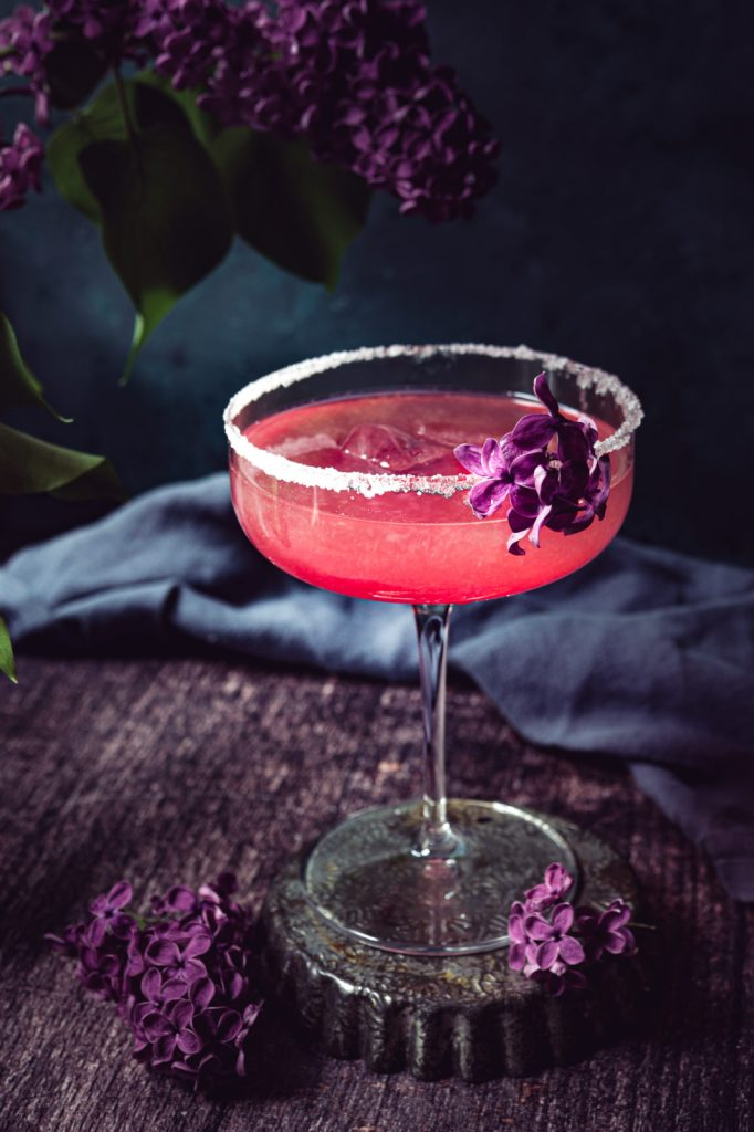 margarita recipe, Tequila cocktail, lilac blossom, violet , brunch recipes