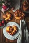 mother's day , homemade gift . brioche dough, sweet bread recipe