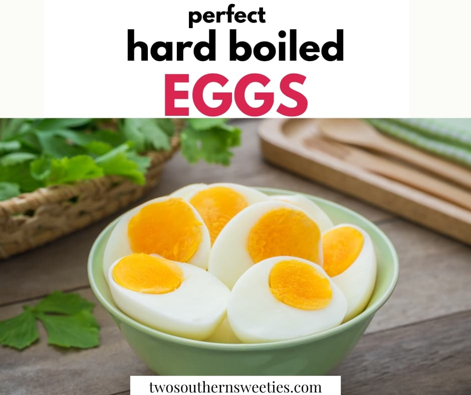 Perfect hard boiled eggs cooked either on the stove top or Instant Pot. Easy peeling, Easter, Deviled Eggs, Baking Soda, #eggs #hardboiledeggs