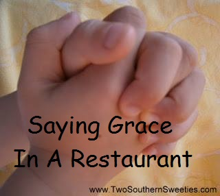 Saying Grace In A Restaurant