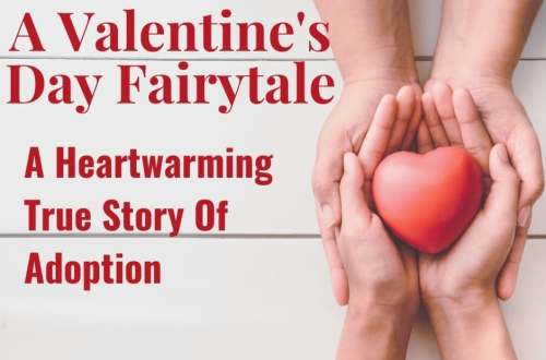 A Valentine's Day Fairytale is a heartwarming true story of adoption. #adoption #valentinesday