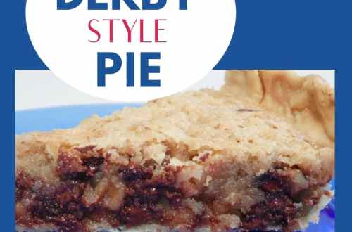 Derby Style Pie is a traditional recipe at Kentucky Derby time. A pie of chocolate nuts and Bourbon | derby pie, run for the roses | Kentucky Derby Recipes