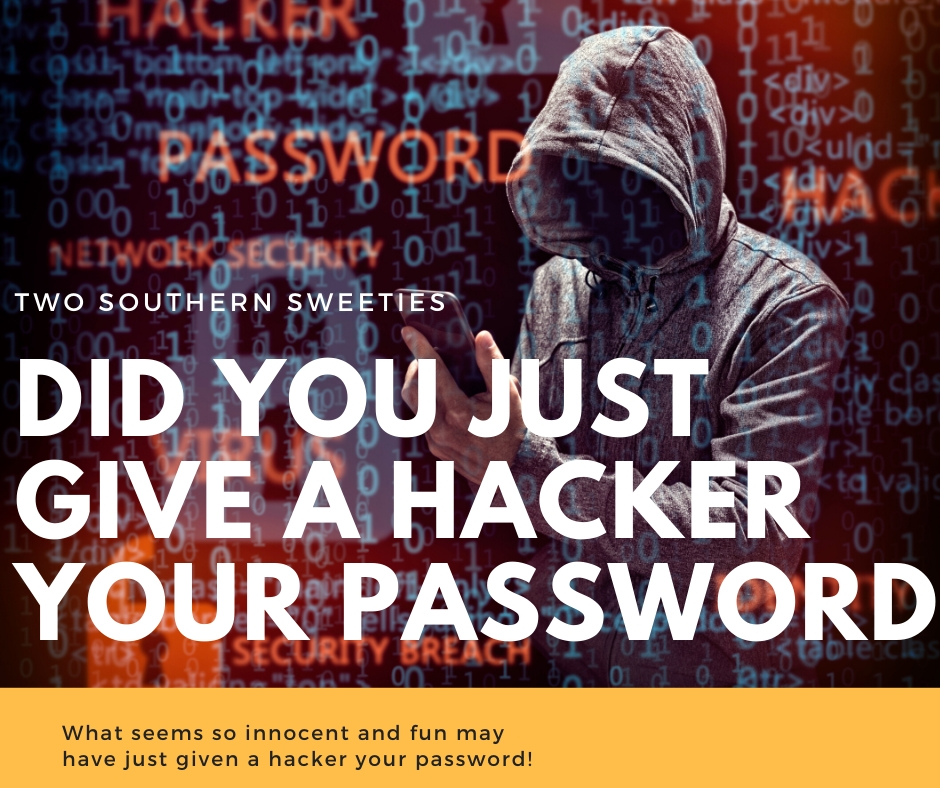 "Did You Just Give A Hacker Your Password? Find out why you should be careful when taking those ""innocent quiz's"" on Facebook! With so many accounts getting hacked not only on social media but bank accounts, credit cards as well as big corporations, you really need to do everything possible to protect not only your accounts but your identity. 
