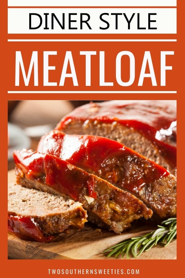 This Southern style meatloaf recipe will be your family's new favorite. Great for dinner and for leftovers as a sandwich. Reminiscent of diner Blue Plate Special's. Meatloaf, diner, southern cooking, southern food, quick dinner, family #southern #comfortfood #dinerfood