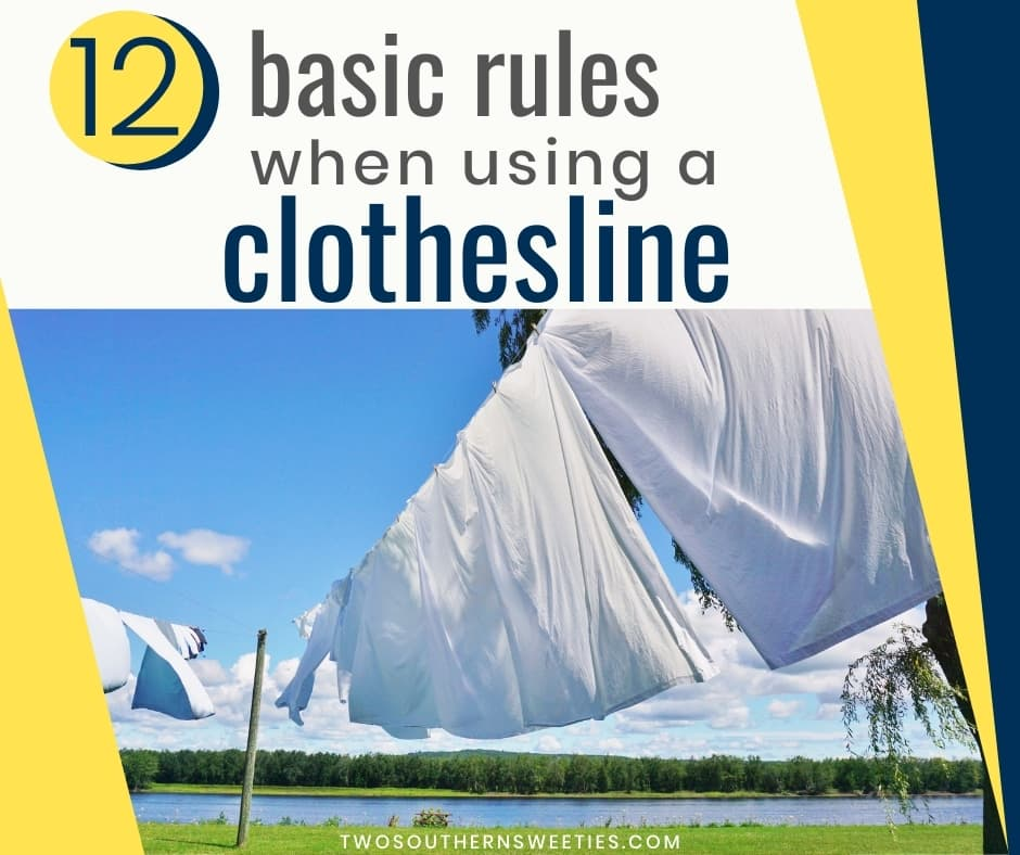 We will teach you the 12 basic rules when using a clothesline. Hanging your clothes. #hangingclothes #clothesline #howtohangclothes