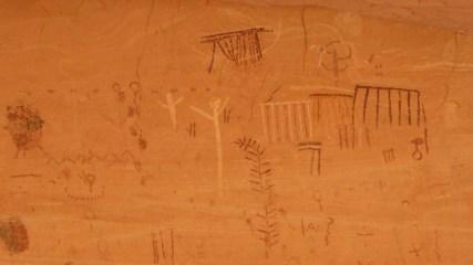 Green Mask Panel - Sheiks Canyon - Cedar Mesa - Utah