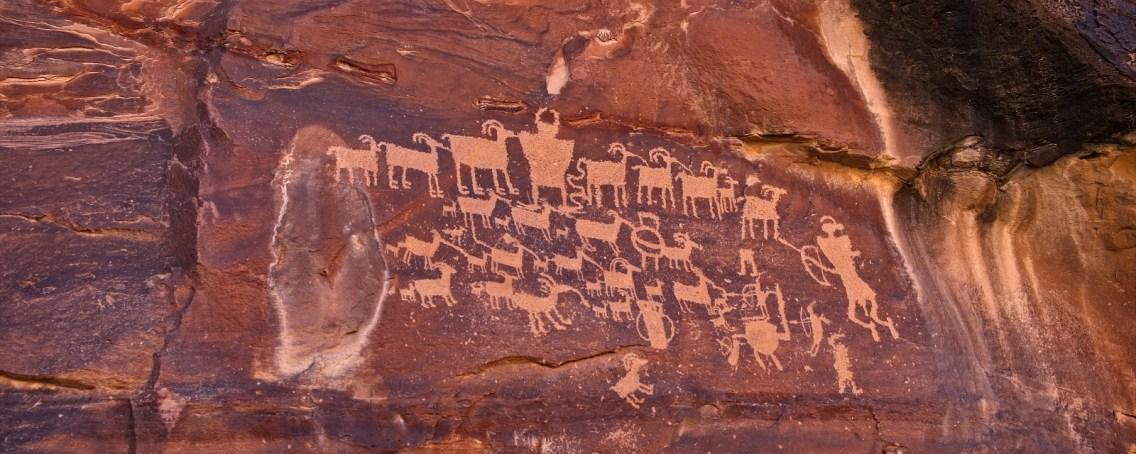 Le Great Hunt Panel, à Nine Mile Canyon, dans l'Utah.