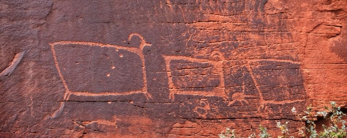 TV Sheep panel, près de Intestine Man Panel, sur la SR 313, en direction de Canyonlands.