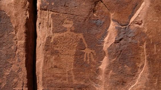 Near the Owl Panel - Amasa Back Trail - Moab - Utah