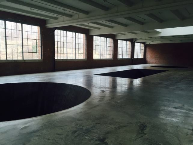 "Michael Heizer's ""North, East, South, West."" The holes are 20 feet deep! - Beacon, NY Day Trip for World Class Contemporary Art - Two Traveling Texans"