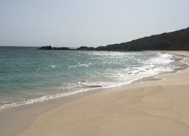 The hike leads you to this beautiful, quiet beach