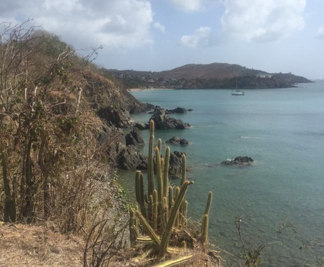 The view on the walk to Happy Beach