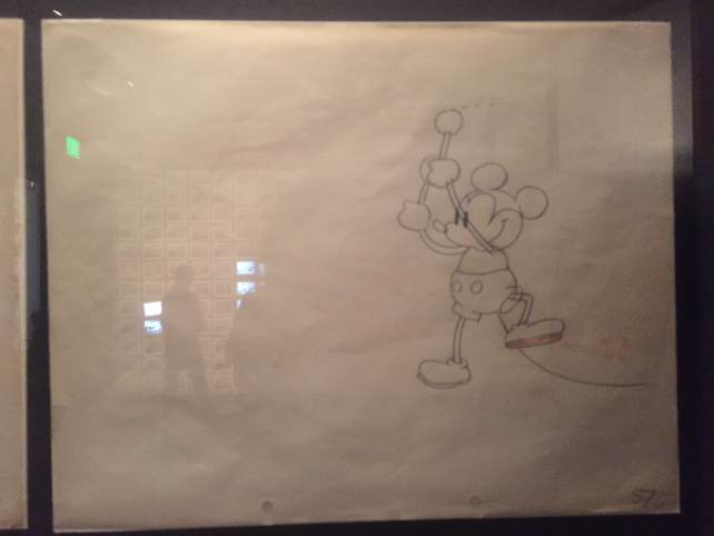 An early sketch of Mickey Mouse