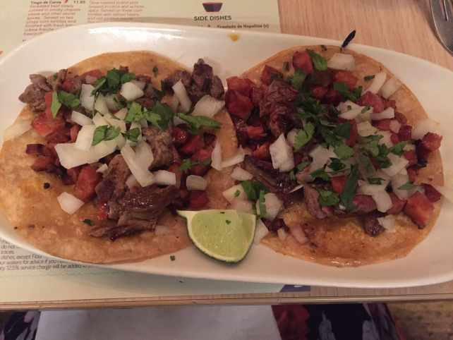 "The Campechano tacos, which are a combination of steak and sausage (chorizo).- ""Mexican Food Finds in London"" - Two Traveling Texans"