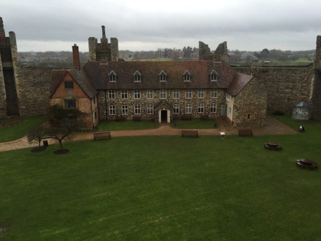 The poorhouse is the only remaining building inside Framlingham Castle.