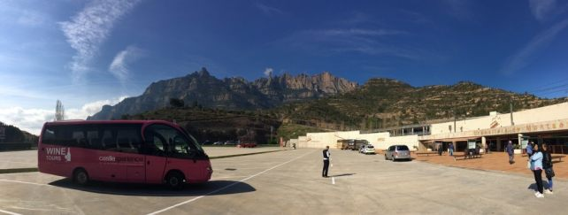 "View from the bottom of the mountain where you catch the train. - ""Montserrat: Mountain, Monastery, and Wine"" - Two Traveling Texans"
